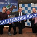 At the Ballinrobe Racecourse Season launch for 2015 pictured were Main Sponsors , Donal Vaughan of Vaughan Shoes and Paul McHale of McHale with Racecourse Manager John Flannelly.               Pic:Trish Forde.