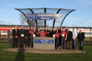 Ballinrobe Races Committee members pictured presenting Team Jerseys to the Ballinrobe G.A.A. Senior Team. Pic:Trish Forde.