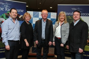 At the launch of the Ballinrobe Race season pictured were Sponsors:Left to right:John Hardiman(C&C Gleeson), Martina and Padraic McHale(McHale), Annette Canty (B.O.I. Manager), Gary Monroe(Munroes:Galway). Pic:Trish Forde
