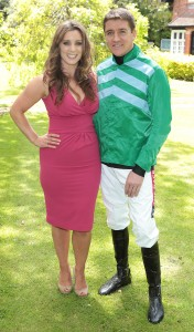Sinead Desmond and Jockey Barry Geraghty pictured at the Littlewoods Horse Racing Ireland's Summer Racing Season Best Dressed Series launch. Pix Brian McEvoy