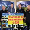 At the launch of the Ballinrobe Racecourse Annual Membership for 2017, pictured were:Left to right:Michael Joyce(Race Committee P.R.O.), Mayo Footballer Diarmuid O'Connor, Racecourse Manager John Flannelly and Sean O'Connell(Race Committee).      Pic:Trish Forde.