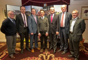 HRI Future Focus Racecourse Roadshow, Abbey Hotel, Roscommon 15/2/2016 Frank O'Berne, John Flannelly, Michael Maloney, Lorcan Wyer, Paddy Dunican, Michael Finneran and Dick O'Brien Mandatory Credit ©INPHO/Morgan Treacy